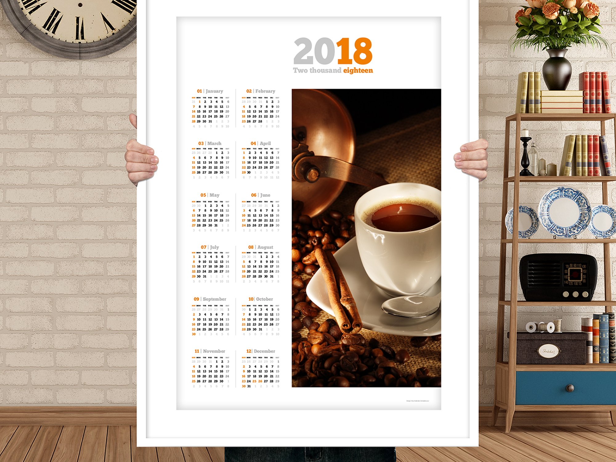 Design Your Own Yearly Calendar Custom Calendars Zazzle 2018 Yearly Calendar Template With Large Image Pdf Format