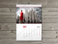 Wall calendar 2018 template. Monthyly & yearly wall custom ...
