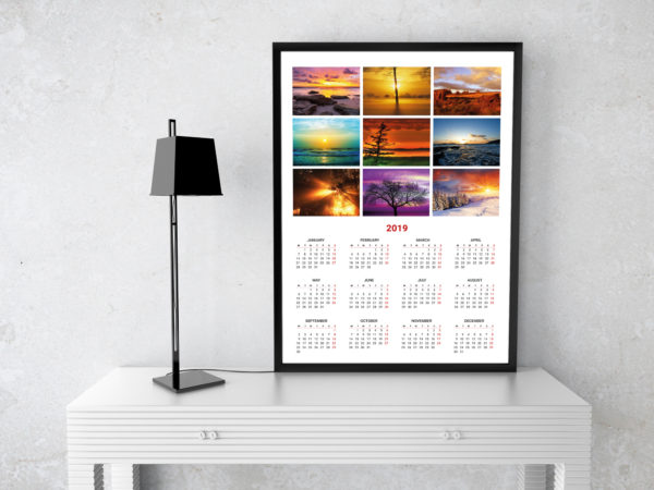 2019 Calendars and Planners Templates Yearly, monthly, weekly calendar - Calendar Template