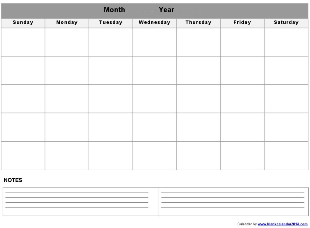printable calendar with notes - Apmayssconstruction