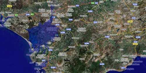 Simulación de la subida del nivel del mar