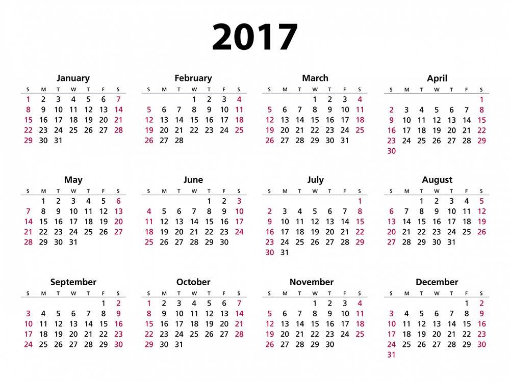 2017 Calendar Free Printable 2017 Calendar Free Calendars