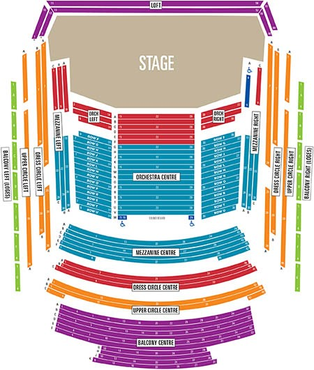 Seating Map Calgary Philharmonic Orchestra