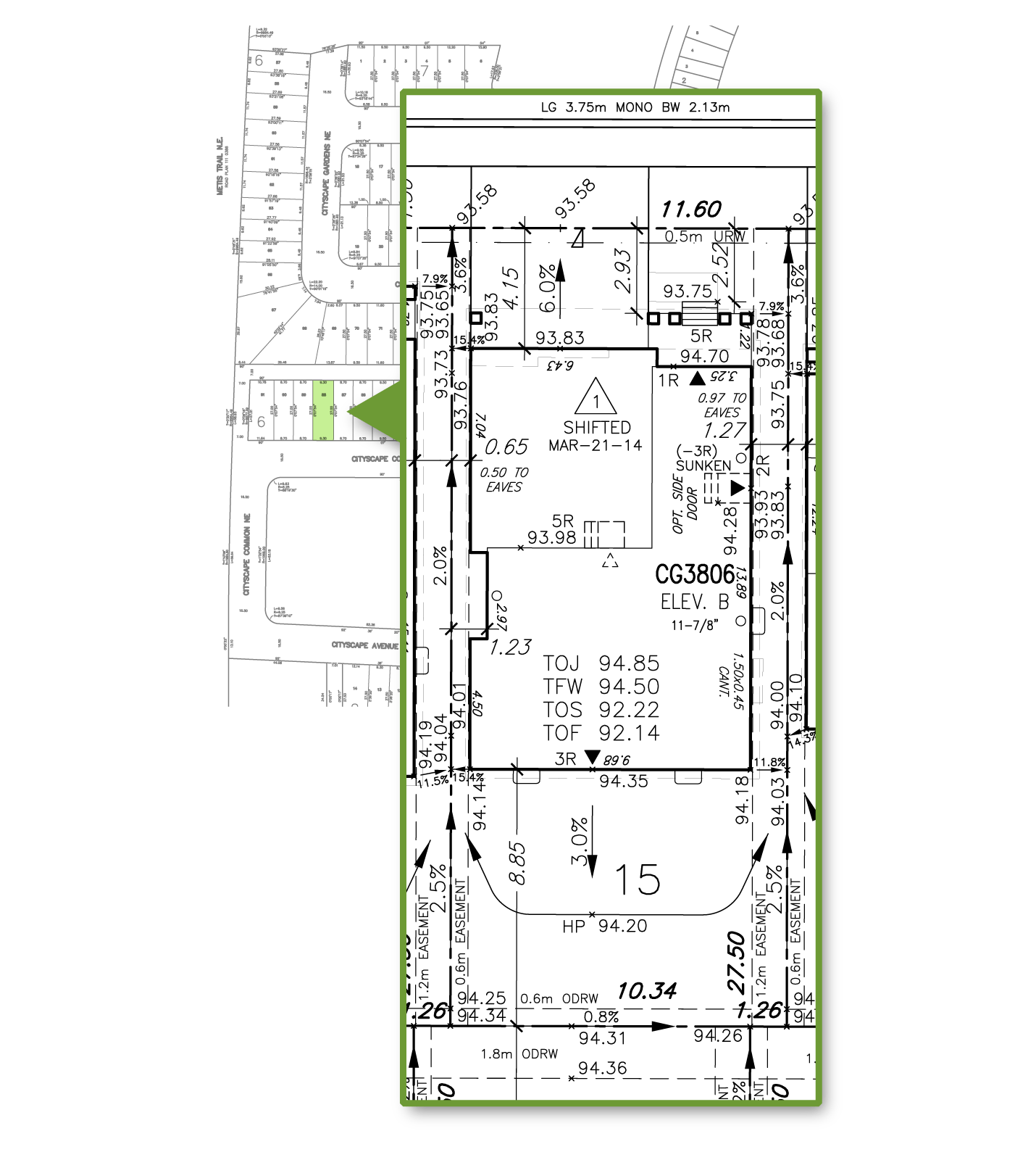 electrical plan of single family dwelling