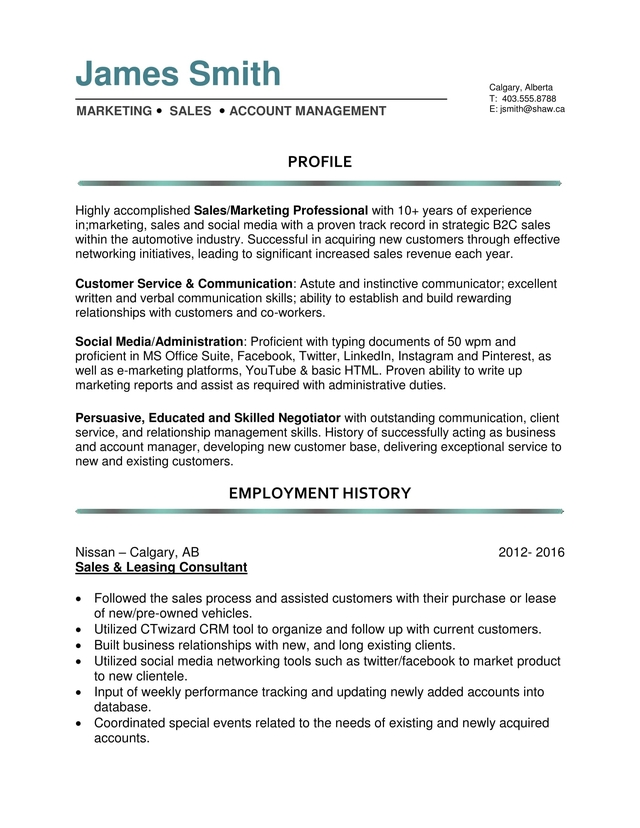 Resume helpers calgary