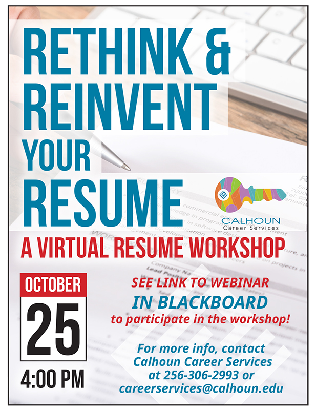 Rethink  Reinvent Your Resume \u2013 Calhoun Community College