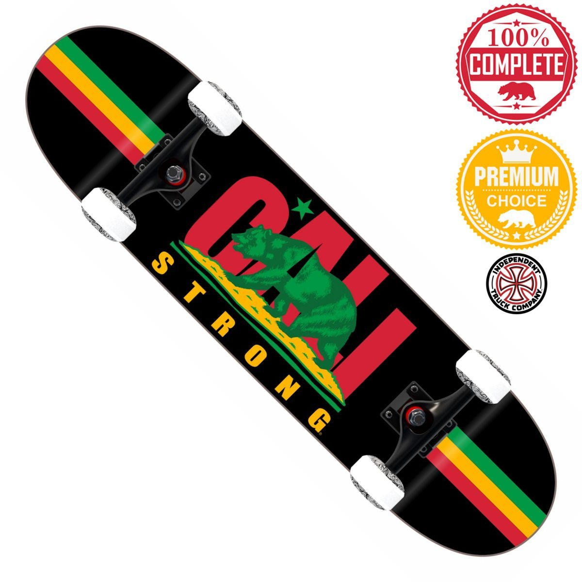 CALI Strong Rasta Skateboard