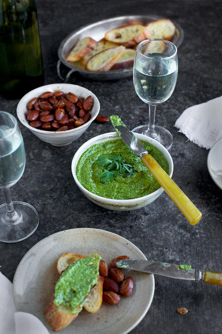 Arugula Basil Chive Pesto