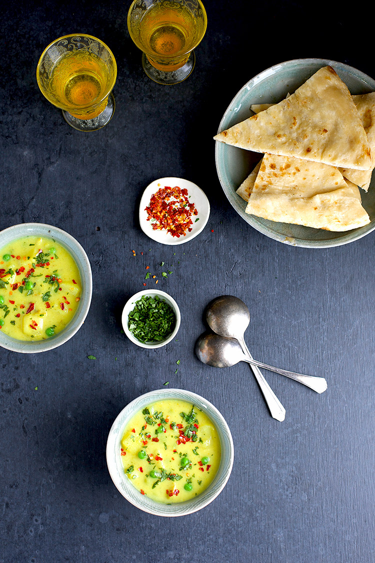 Potato and Pea Coconut Curry Soup