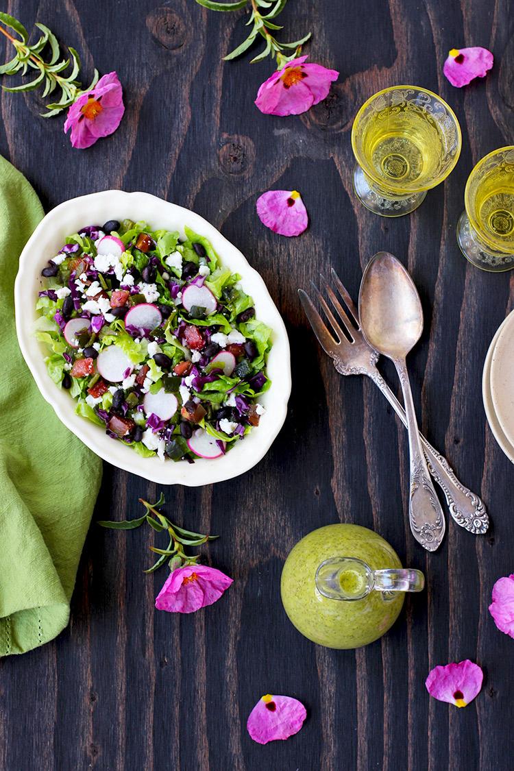 Mexican-Salad-with-Cilantro-Jalapeno-Vinaigrette