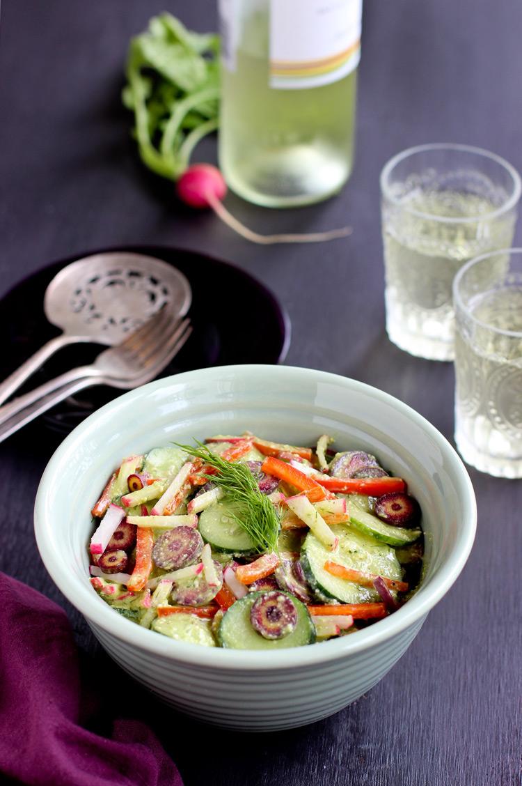 Cucumber-Salad-with-Chive-Cashew-Pesto-Viniagrette