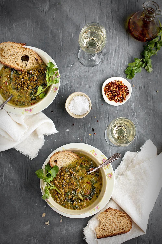 Green Lentil Coconut Soup