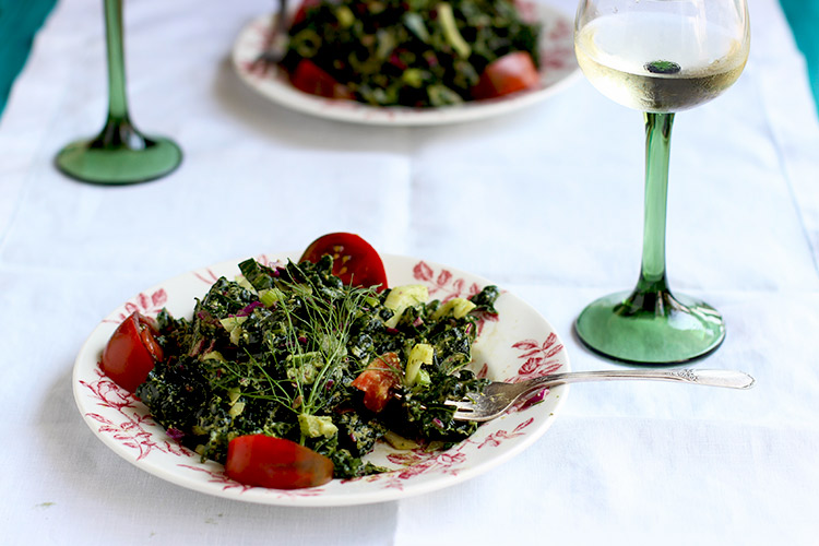 Kale-Lemon-Basil-Salad