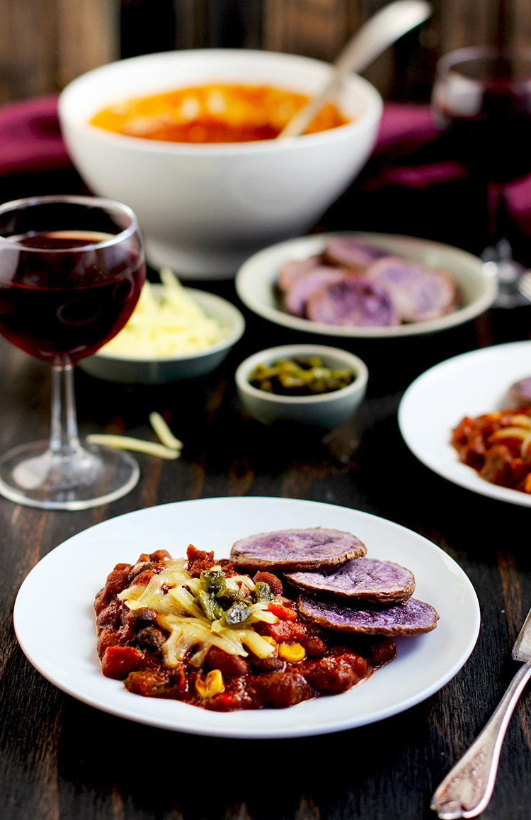 Oven-Baked-Round-Purple-Fries-+-Chili-Fries