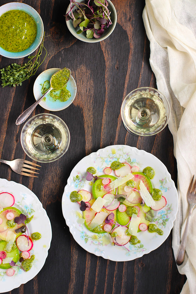 Radish-Salad-with-Lemon-Thyme-Vinaigrette