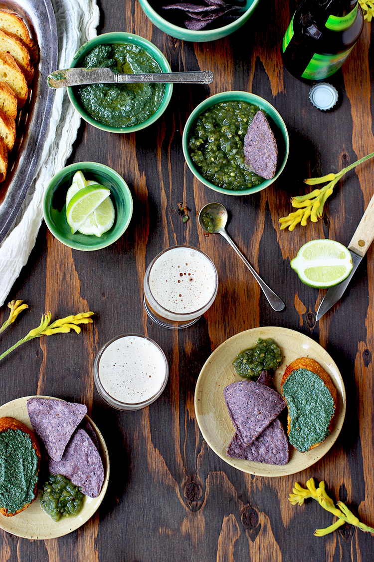 Fire Roasted Spirulina Salsa - Roasted Poblano Spirulina Pesto