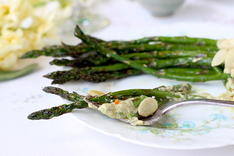 Roasted-Asparagus-with-Fresh-Pea-Pesto