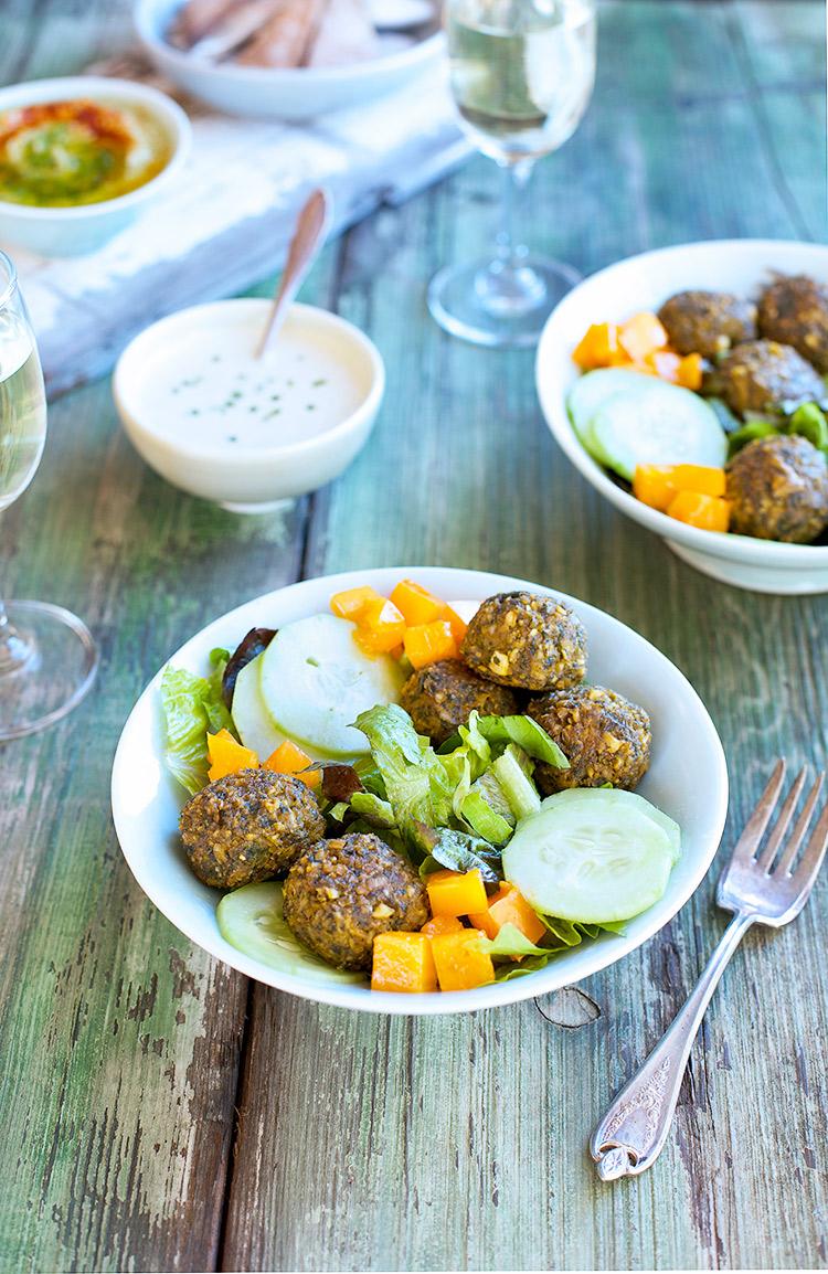 Kale Falafel Salad Bowl