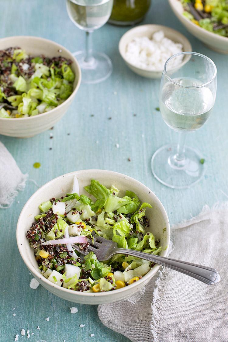 Roasted Poblano Quinoa Salad