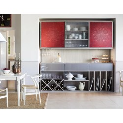 Rummy Hostess Pantry Lago Adriatic Mist Sliding Doors Diablo Linear Etched Glass Gllry Flexible Shelving Systems