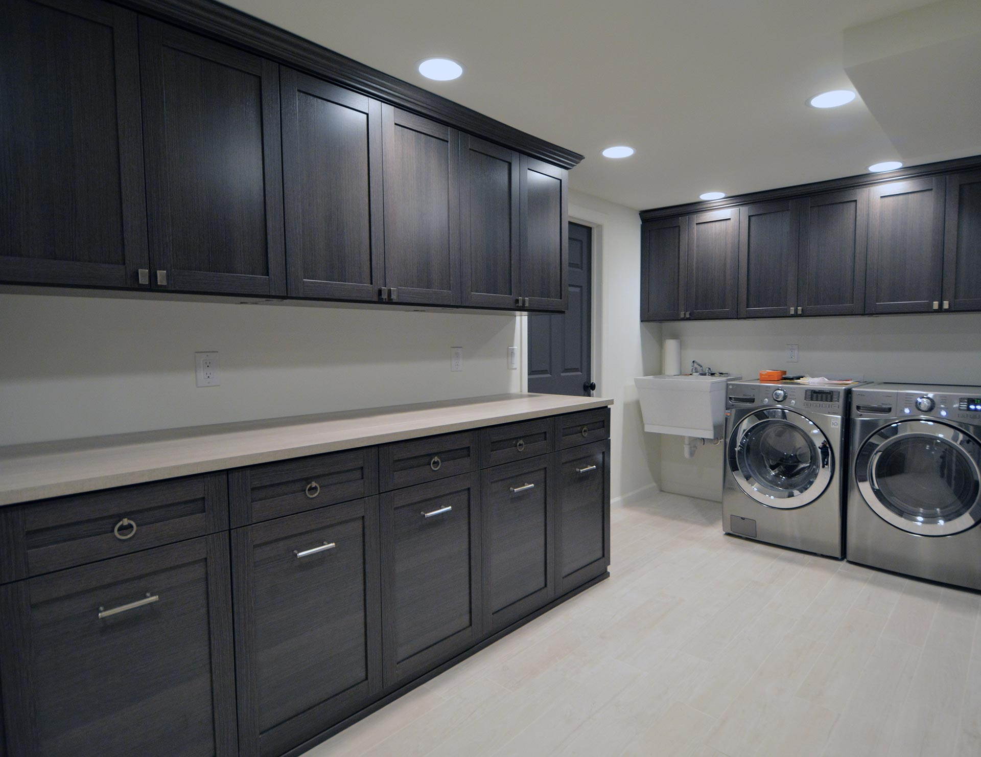 Shaker Cabinet Crown Molding Laundry Room Cabinets & Storage Ideas | California Closets