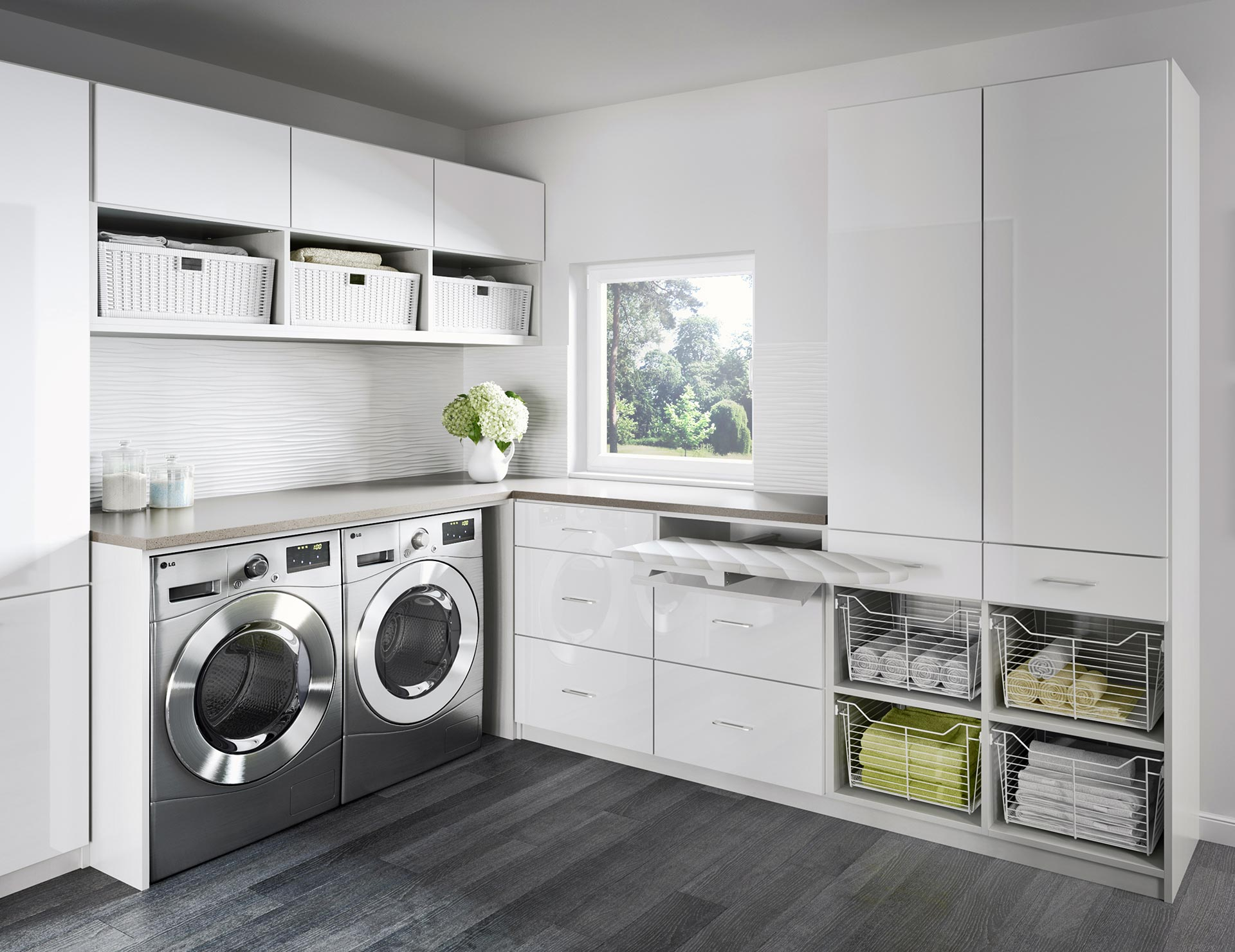 Laundry Room Countertop Material Laundry Room Cabinets Storage Ideas By California Closets