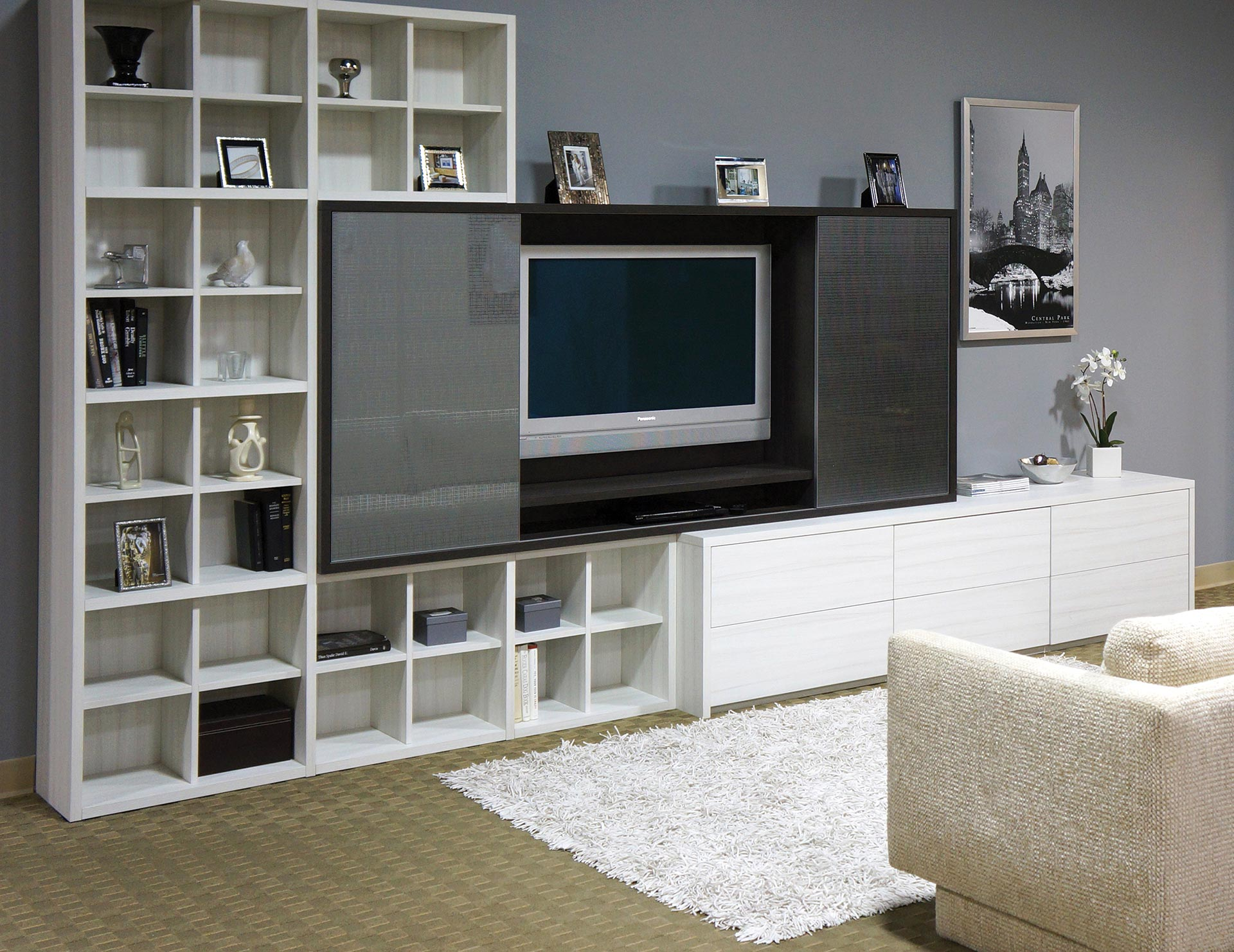 In Wall Media Cabinet Built In Entertainment Centers Media Cabinets California Closets
