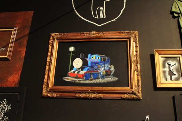 Banksy tagging thomas the train