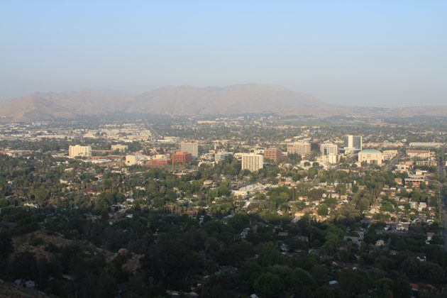 Downtown Riverside from mt rubidoux summit