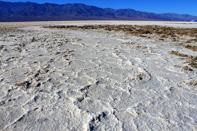 Lots of salt in badwater