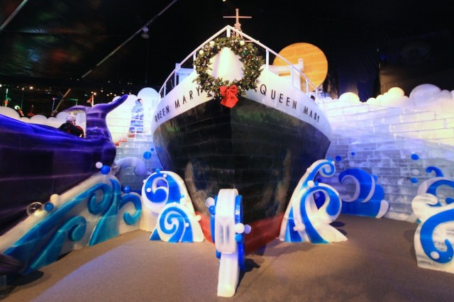Queen Mary Ice Sculpture 640x426