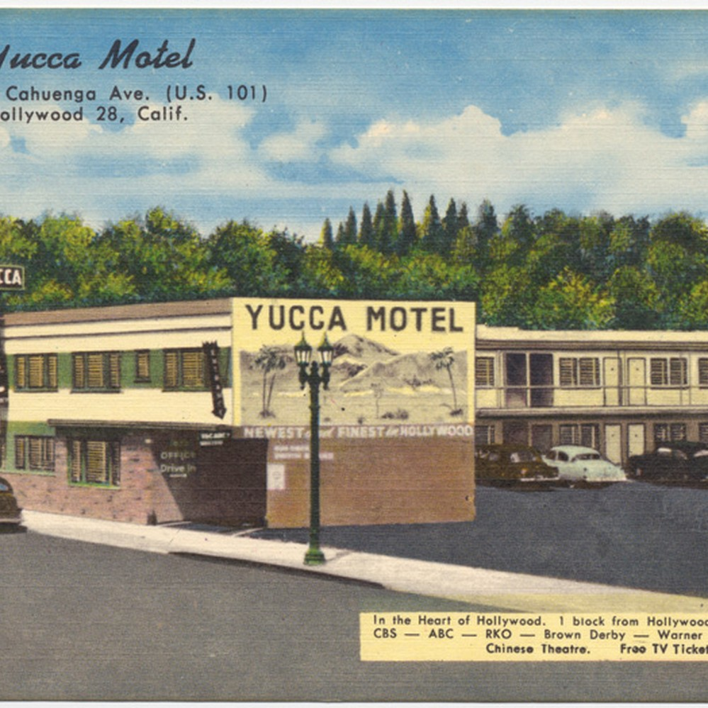 Hollywood Motel Calisphere Yucca Motel 1822 No Cahuenga Ave U S 101