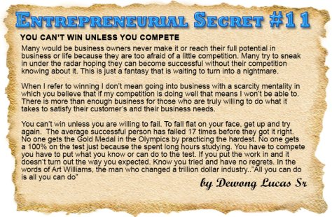 Entrepreneurial Secret #11