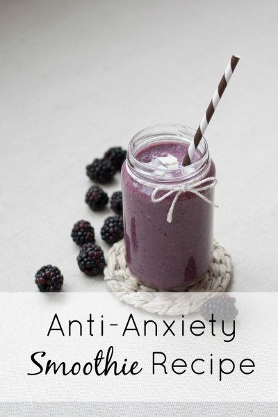 Zen starts in your kitchen. Keep your day calm with this anxiety relief healthy smoothie recipe. It has food that you already probably have in your fridge with one optional ingredient to really give it a boost!