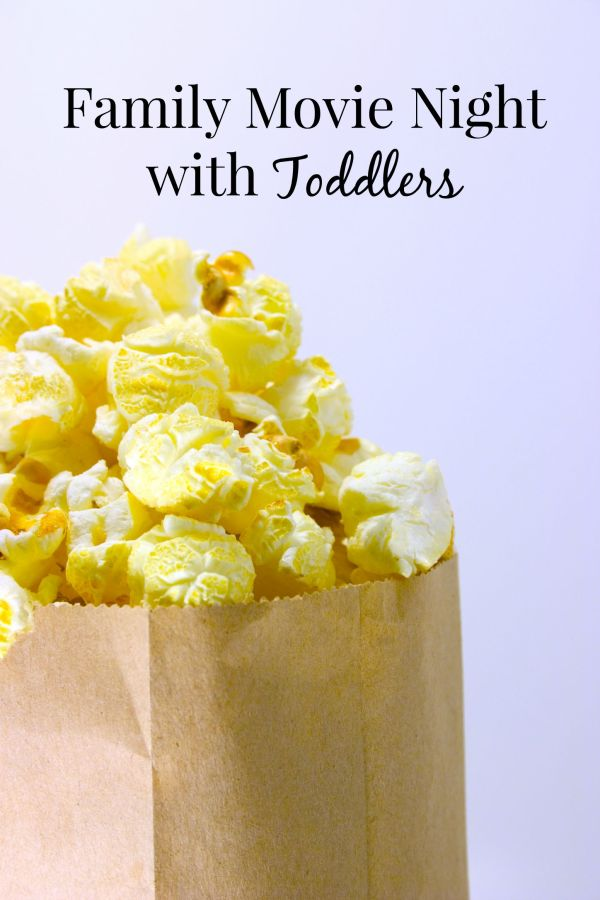 Plan a family movie night for you and your young children. Find my best recommendations for movies as well as all of the essentials to make the night fun! | family night | movie recommendations | toddler activities