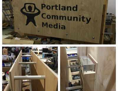 Portland Community Media TV Shroud