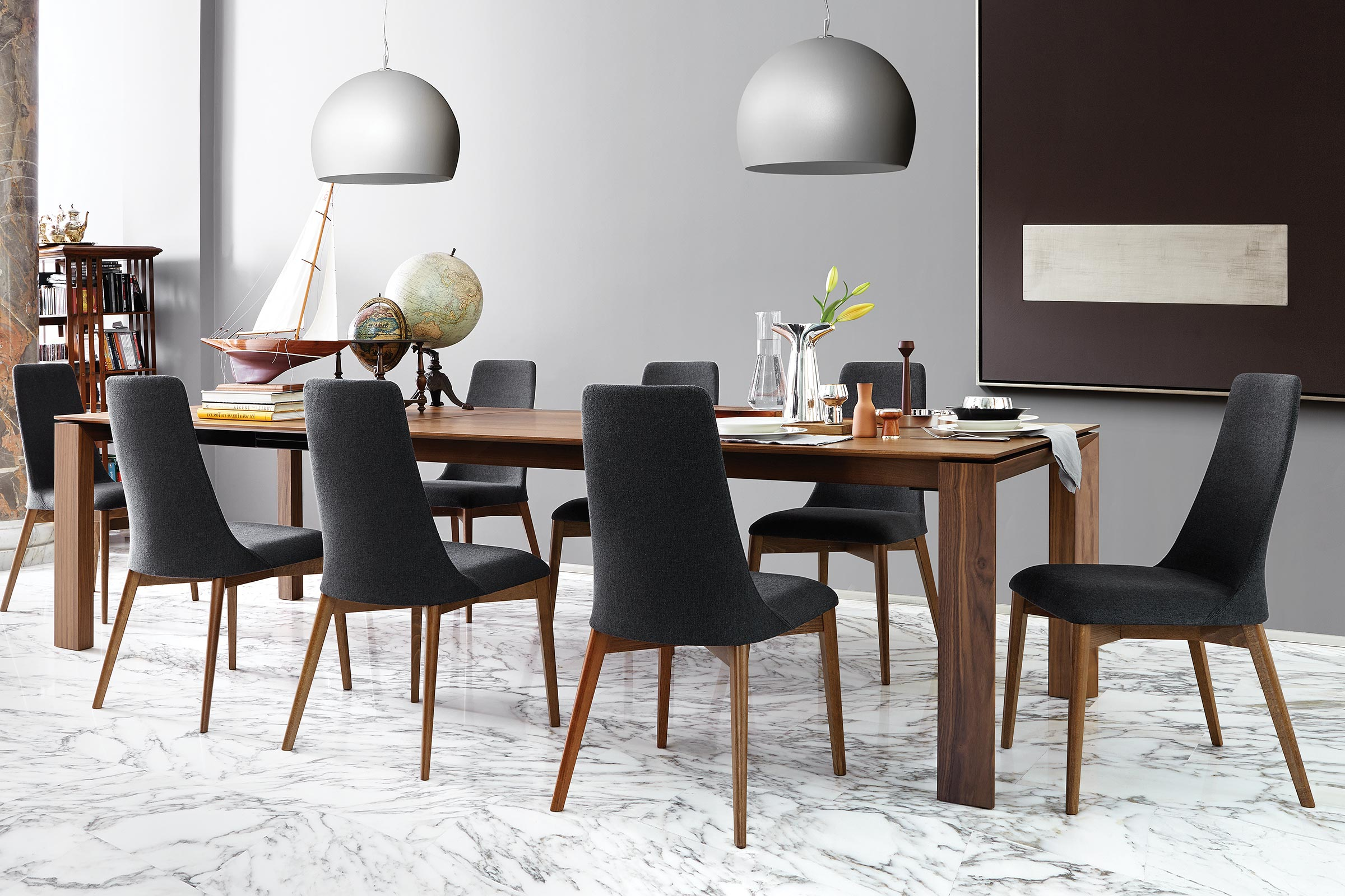 Modern Dining Table Toronto Omnia Extendable Contemporary Dining Table Calligaris