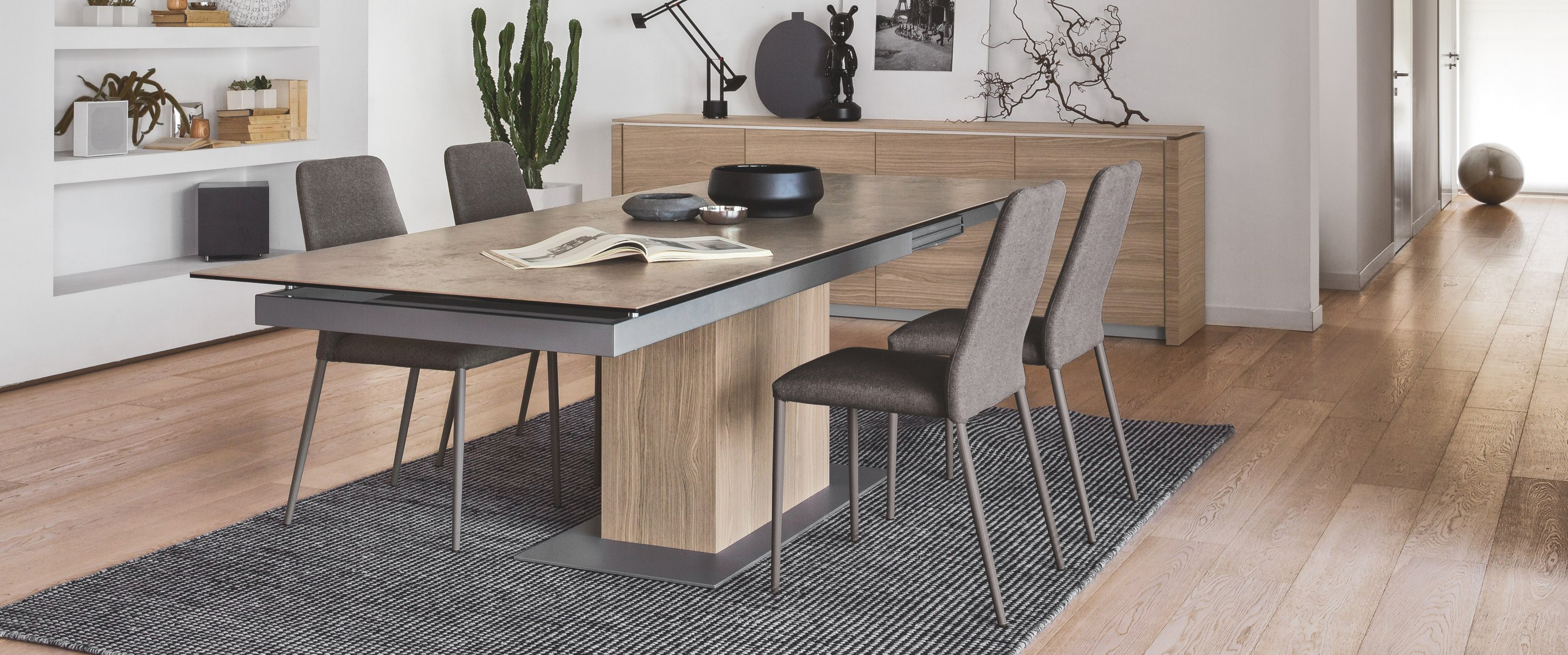 Modern Dining Table Toronto Calligaris Sincro Extra Long Modern Extendable Dining