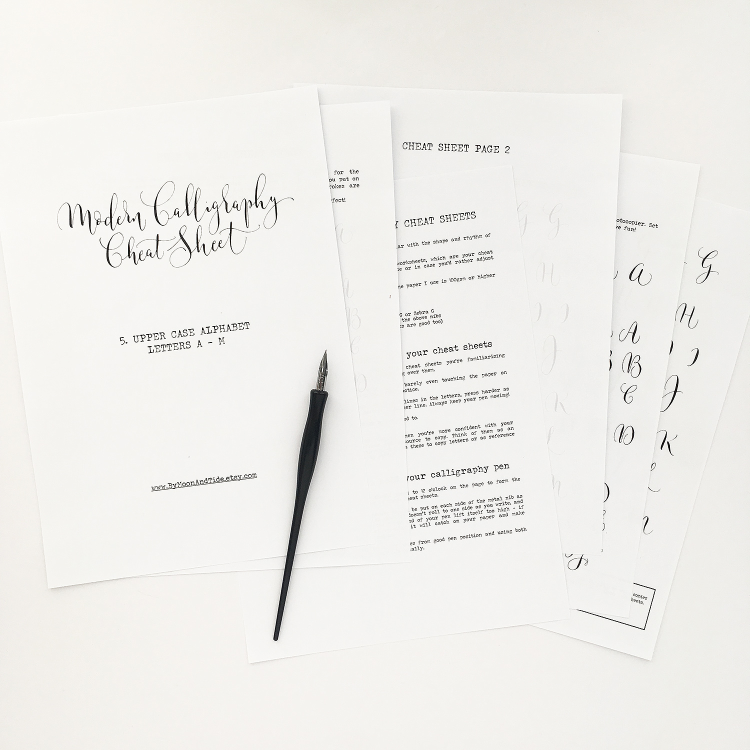 Calligraphy For Beginners Online Now Available In My Online Shop Calligraphy Cheat Sheets