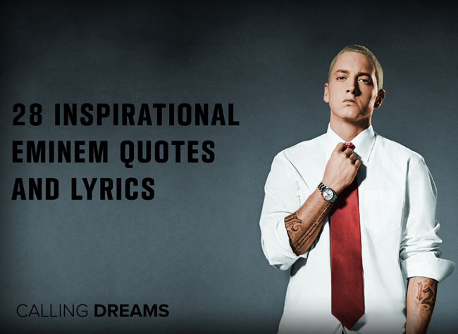 Inspirational Quotes Wallpaper Rapper 28 Inspirational Eminem Quotes And Lyrics By 2017
