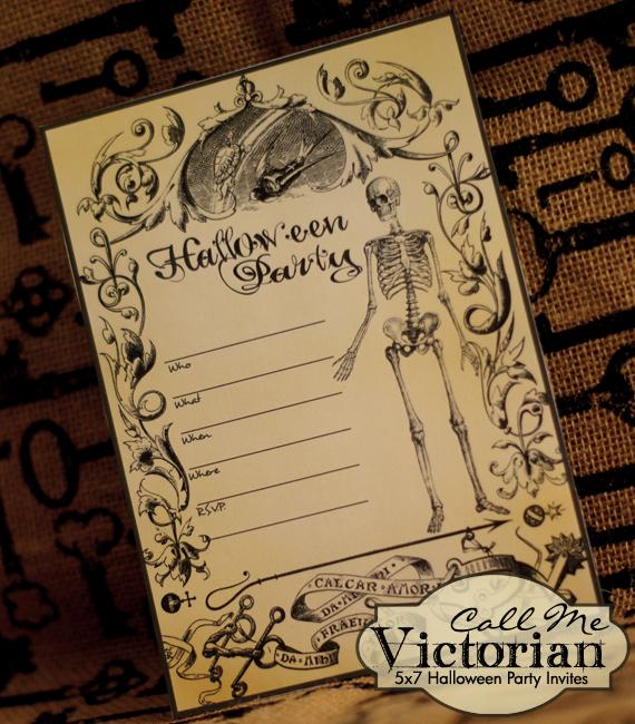 Free Printable Halloween Party Invitations Call Me Victorian - halloween invitation template