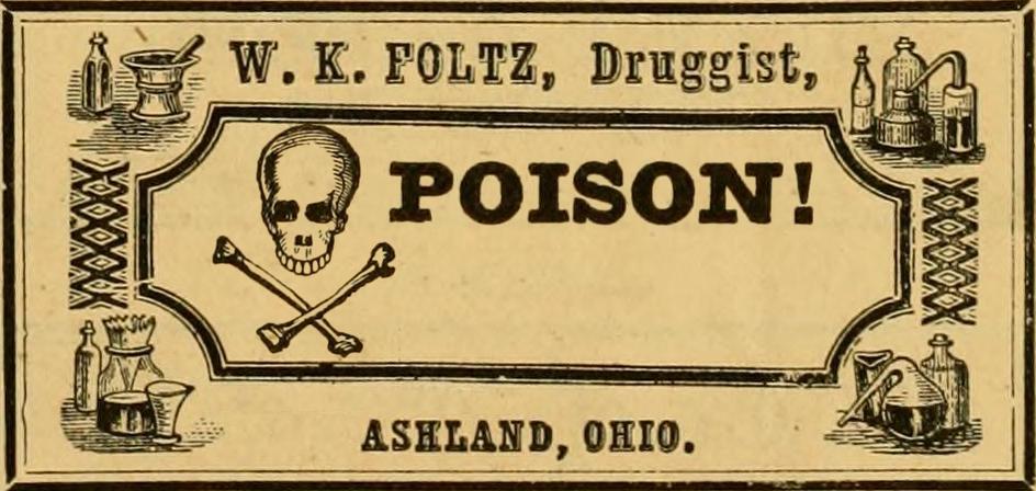 Vintage Poison Labels Call Me Victorian