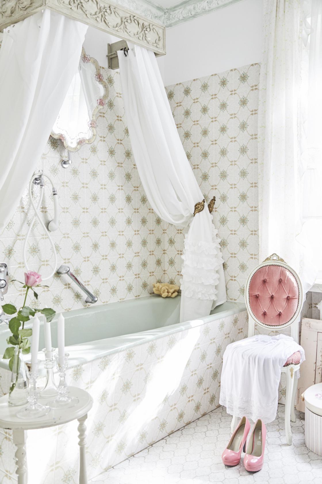 Badezimmer Hängeschrank Shabby Chic | Badmöbel Set Patina Home ...
