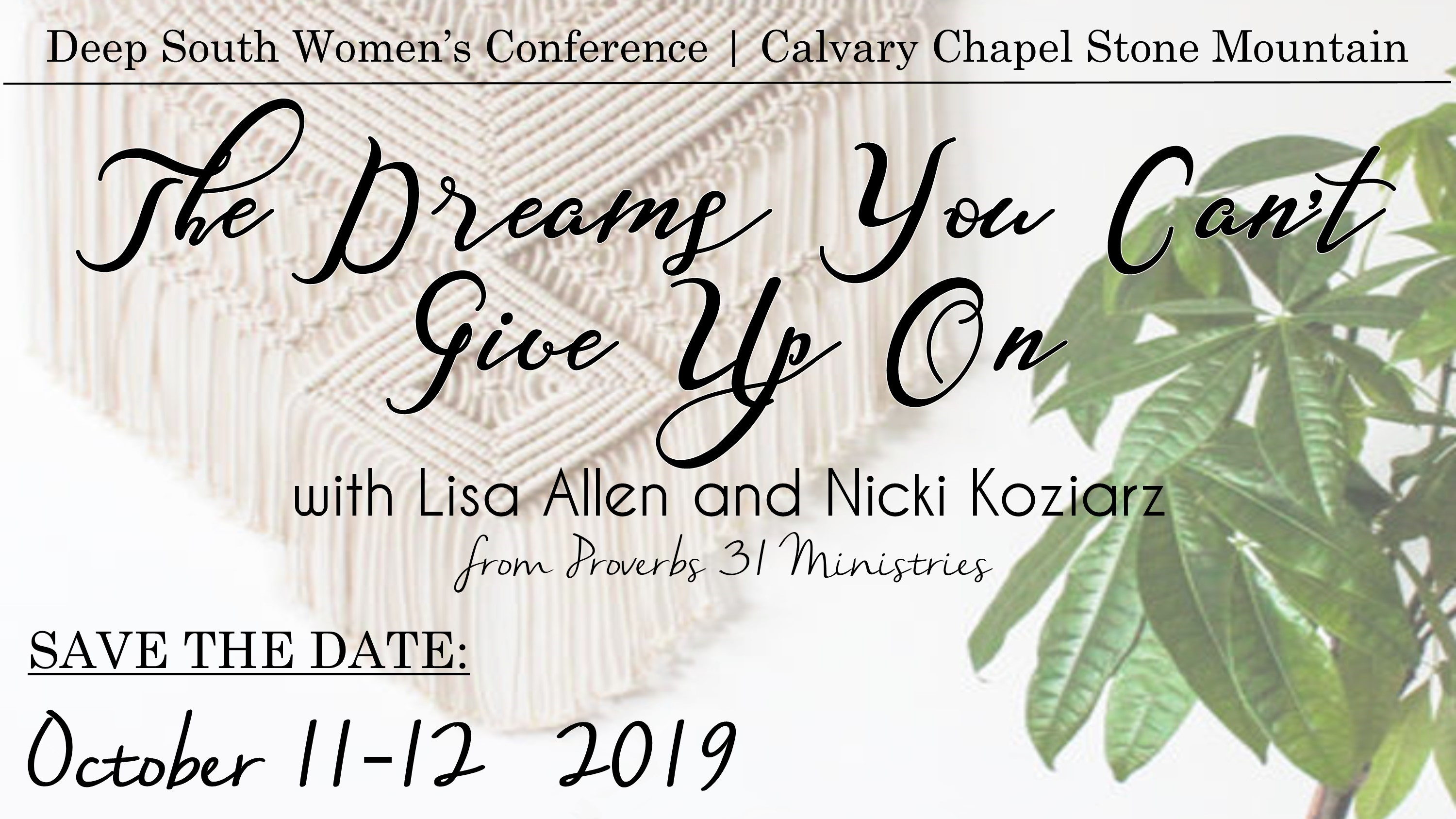 Calligraphy Input Online 2019 Deep South Women S Conference Calvary Chapel Deep South