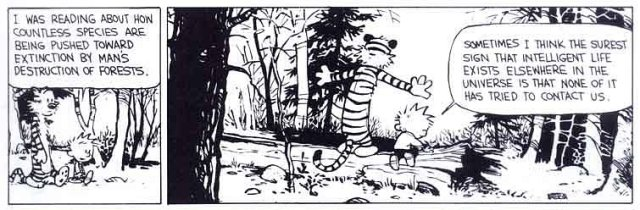 calvin hobbes species extinction