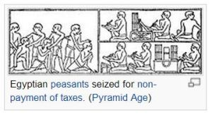 Taxes, egyptian peasants, wikimedia'