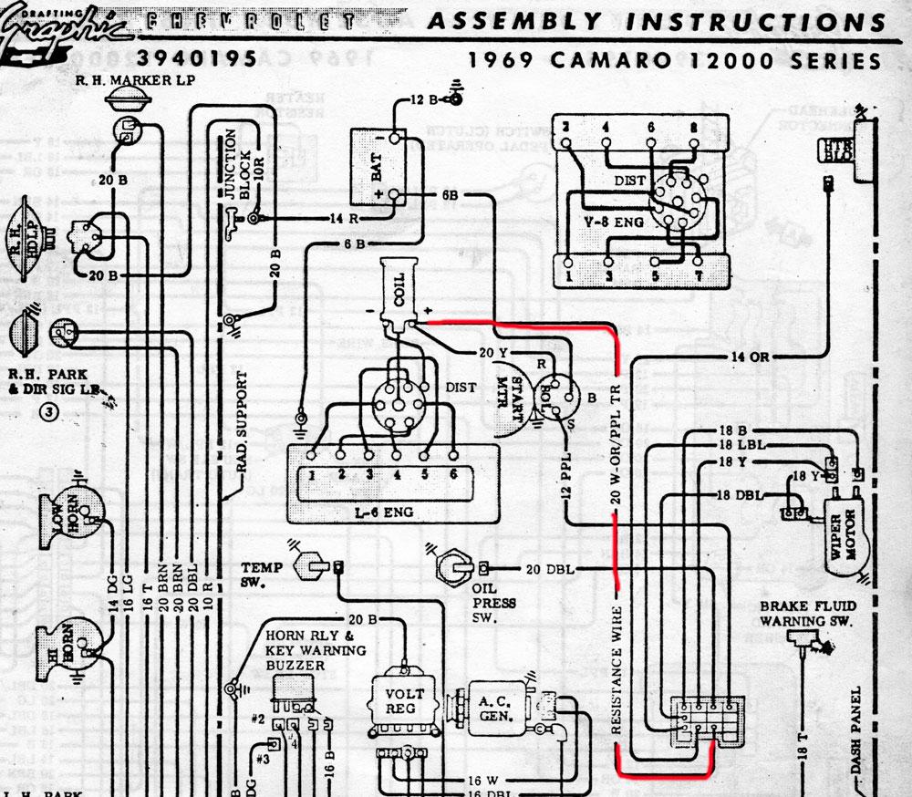 1969 camaro starter wiring diagram