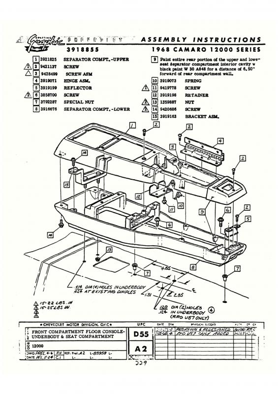 69 camaro center console wiring diagram