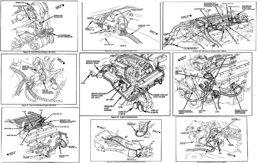 1997 camaro Motor diagram
