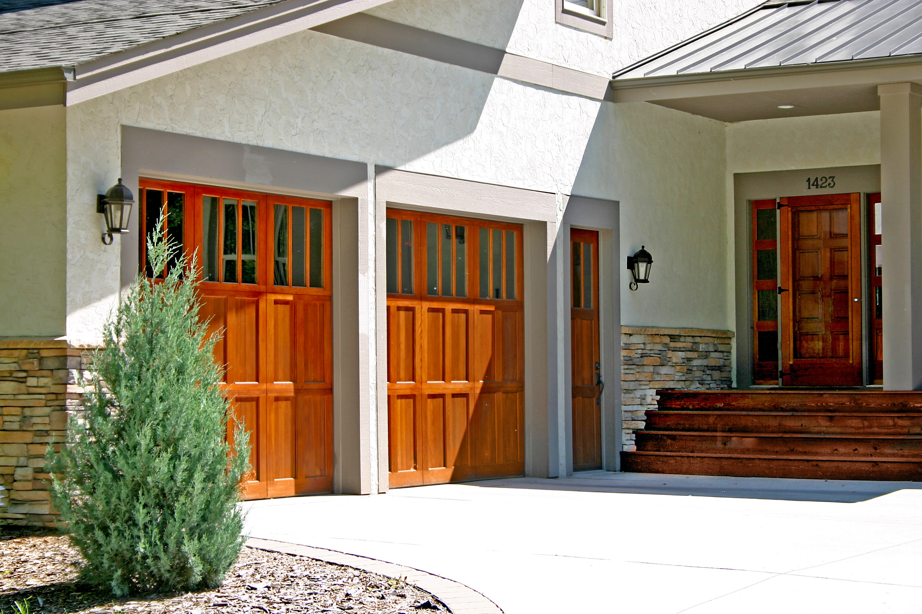 Garage And Front Doors That Match Garage Doors Cambek Designer Doors